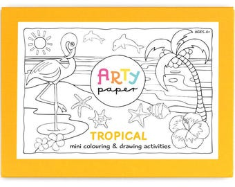 Kids Mini Colouring Folder- Tropical