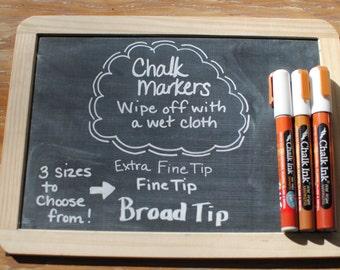 White Chalk Ink - Chalkboard Marker  - Wet Wipe -  Bistro Style Choose from 3 sizes