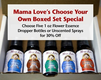 Flower Essence Gift Box, Boxed Set, 30 Percent Off, Organic Reiki-Infused, Discount