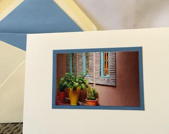 Window Garden in Morocco Notecard, Blank Inside