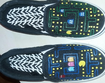Pac Man handpainted shoes