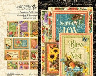 Graphic 45 Seasons Ephemera Cards, SC007749