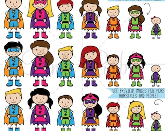 Superhero Stick Figure Clipart Clip Art, Stick People Clipart Clip Art, Stick Family Clip Art Clipart - Commercial and Personal Use
