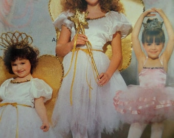 BALLET DRESS Pattern • Butterick 4197 • Girls S-XL • Fairy Dress • Wings and Wand • Sewing Patterns • Childrens Costumes • WhiletheCatNaps