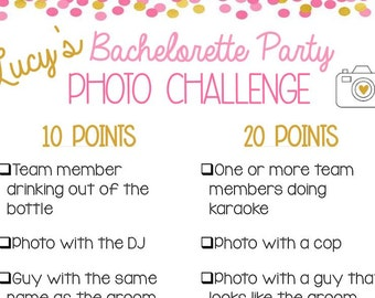 Bachelorette Party Photo Challenge