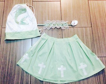 Cross Schoolgirl Skirt