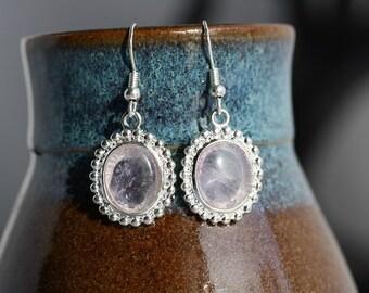 Amethyst Silver Plated Earrings - Item 198