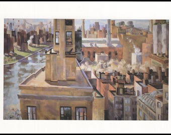 Joellyn Duesberry: From High Places (October 17-November 9, 1996). Folder with postcards and announcement for the exhibition.  (27734)