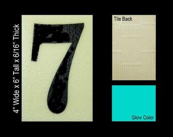 "No 7 Ceramic Tile House Number (4""w x 6""h)"