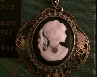 """Gear'Olly's """" Lady in Waiting """" steampunk Victorian necklace"""