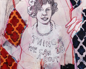What We Can Do, mixed media drawing by Juliana Coles