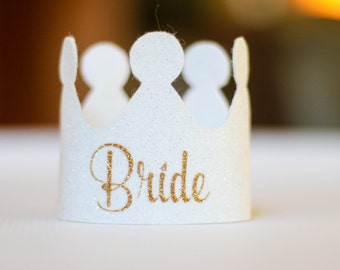 Bachelorette Party Crown - Bachelorette Gift - Headband - Bridal Shower - Accessory - Glitter