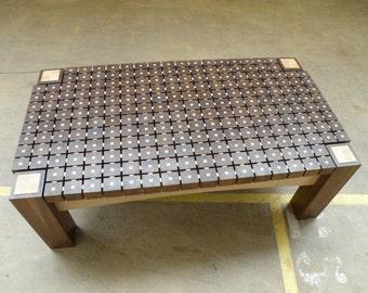 Blocked coffee table