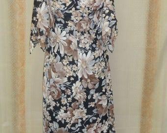 long Bohemian vintage 1960s 1970s dress