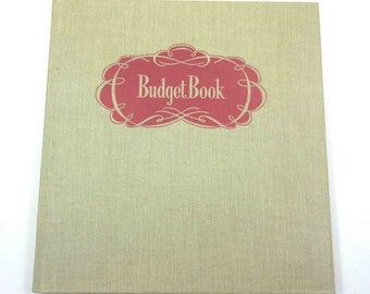 Vintage 1940s Unused Budget or Ledger Book by Whitman