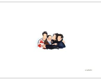 "Tiny Seinfeld 5""x7"" Print"
