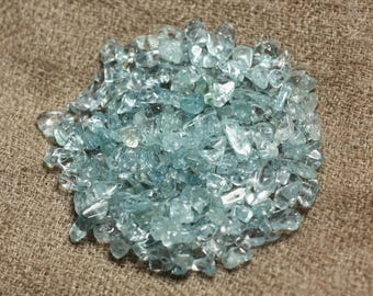 20pc - stone beads - aquamarine Chips 3-6mm 4558550010681 seed