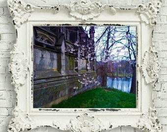 Dexter Mausoleum - Spring Grove Cemetery - Cemetery Art Print - Taphophile Gifts  - Gothic Home Decor - Gothic Revival Decor - Nature Print