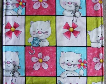KITTY SLIP n' SLIDE - Refillable, Cotton Print, Handmade & Kitty Approved - Catnip Included