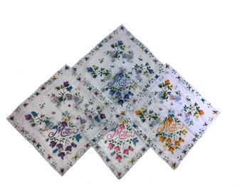 Mothers Day Hankie 4 Pack 14x14''