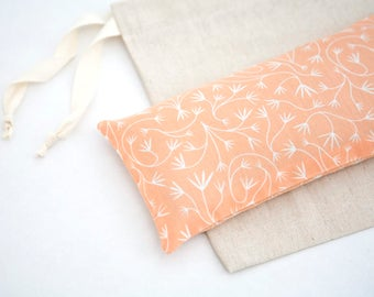 Organic Eye pillow - Lavender Eye Pillow - Orange Eyepillow - Relaxation - Sleep Aid, Yoga, - Organic cotton flax pillow