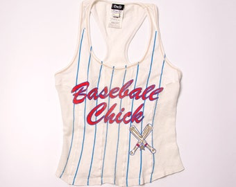 """Vintage Dolce and Gabbana D&G """"Baseball Chick"""" 90s Top"""