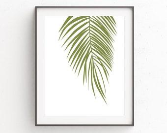 Palm Leaf Print, Palm Tree Print, Botanical Print, Leaf Print, Tropical Leaf Print, Printable Artwork, Extra Large Wall Art, Botanical Art