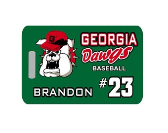 Baseball Luggage Tag - Mascot, Baseball Tag, Baseball Bag Tag, Team Tag, Personalized Luggage Tag, Baseball