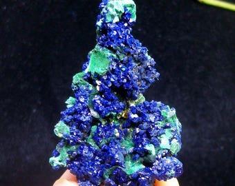 Beautiful - Blue Azurite with Green Malachite B4353 from Liufengshan Anhui China