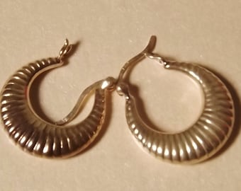 Silver Crescent Earrings