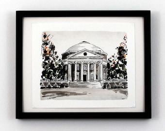 Rotunda, University of Virginia, Charlottesville, VA - Giclee Print