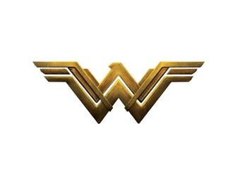 Wonder Woman Inspired Halloween Superhero Costume Logo Iron On Transfer