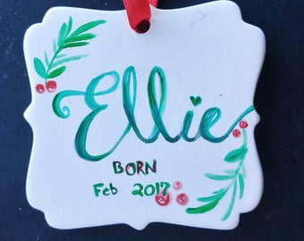 Hand Painted Typography Ornament