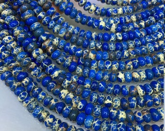 1Full Strand Impression Jasper Rondelle Beads,  8*5mm Impression Gemstone , Beads