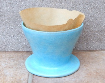 Coffee filter holder dripper pour over hand thrown stoneware handmade pottery wheelthrown ceramic