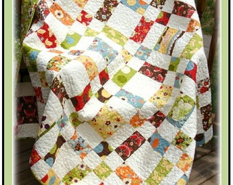 PDF Quilt Pattern Scatter Patch  Double Snuggle Lap Quilt for Two Carlene Westberg Designs