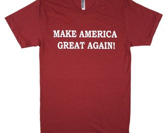 Make America Great Again Donald Trump T Shirt - Made in the USA - Heather Red