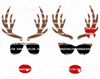 Reindeer face svg - Reindeer svg - Christmas svg - svg christmas files - Christmas shirt svg - reindeer svg files - Christmas clipart