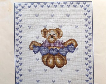CANVAS to DMC bears and hearts size 24 X 28 cm