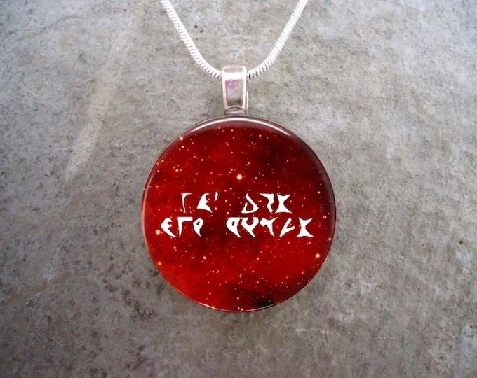 Klingon Jewelry - Glass Pendant Necklace - Star Trek - Focus On But One Target