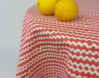 Round Tablecloth | Red round tablecloth | Scandinavian round tablecloth | Cute tablecloth | tablecloth | dinnerware