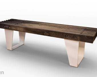 Black stained baltic birch io2 bench