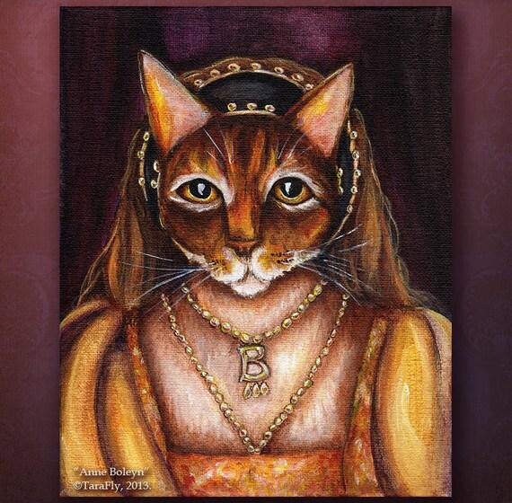 Anne Boleyn Cat 5x7 Fine Art Print