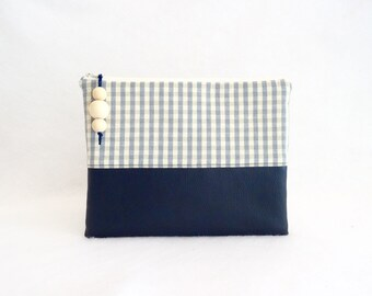 Cover IPad Timy blue and beige