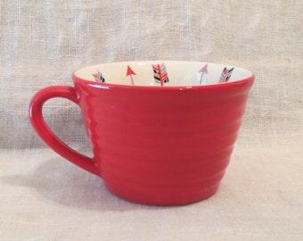 Clay Art Love Arrows Red Mug 11.5 oz.