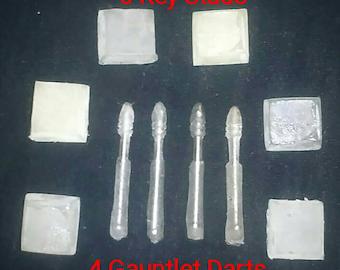 Jango Boba Fett Mandolorian Key Studs and Gauntlet Darts - UNPAINTED - Mando
