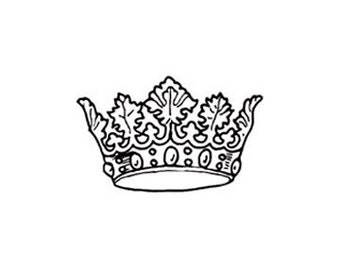 Crown Rubber Stamp Royal magestic