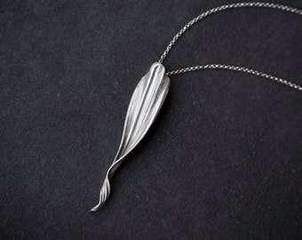 Silver Eden - Art Nouveau necklace - Elven necklace - Elven Pendant