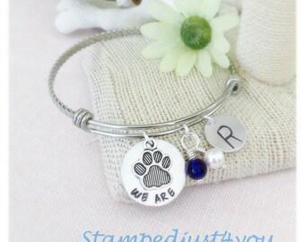 Penn State WE ARE Handstamped Adjustable Bangle Bracelet