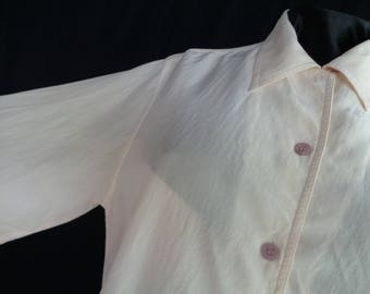 Vintage blouse cream silk size 12